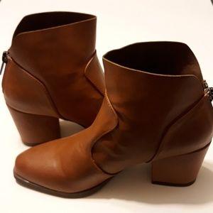 Michael Antonio cognac ankle boots